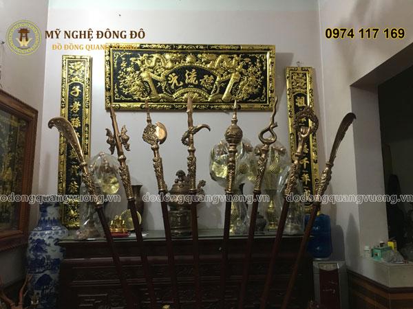 Hoành phi câu đối Đức Lưu Quang bằng đồng vàng