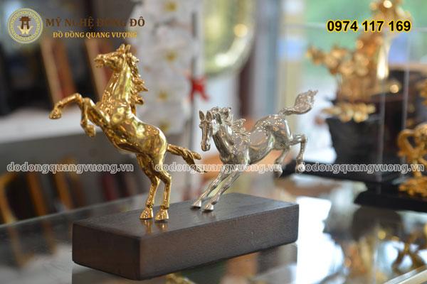 Đôi ngựa đồng mạ vàng và mạ bạc 1