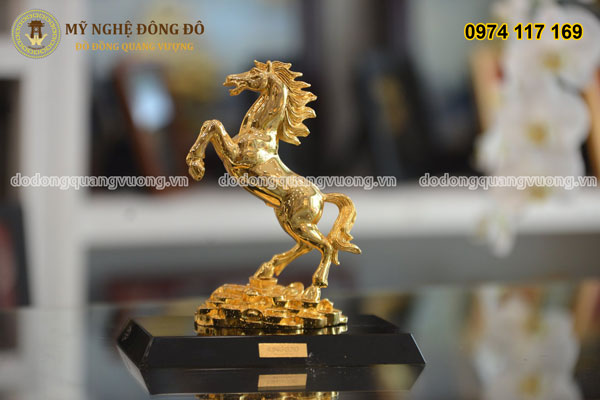 Ngựa bằng đồng mạ vàng cao 25cm 1