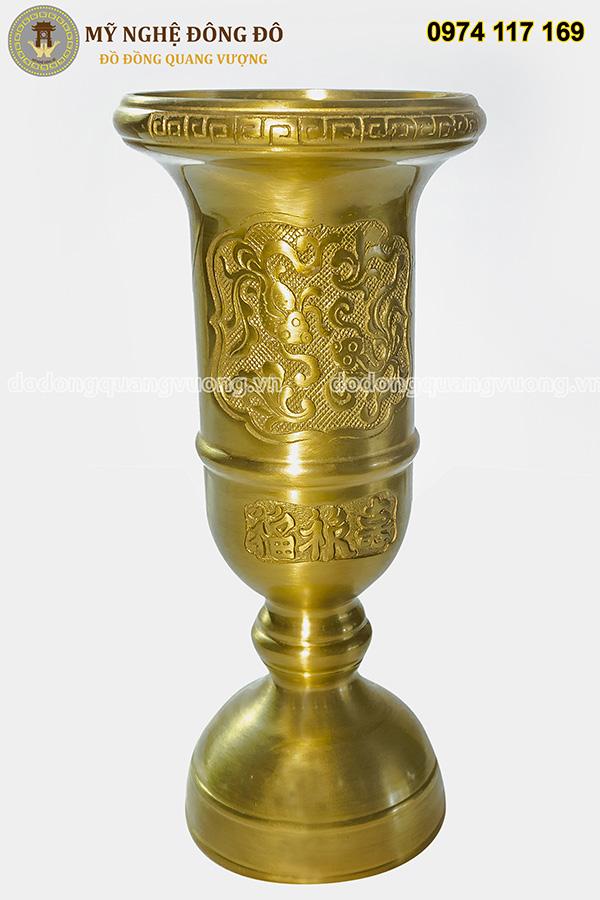 Ống hương loe bằng đồng vàng