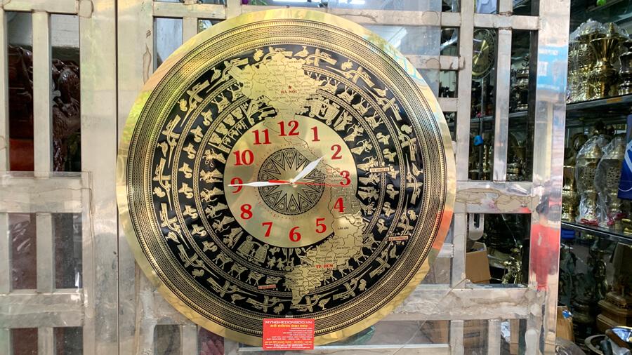 Đồng hồ mặt trống đồng Tự Hào người Việt Nam size 60cm