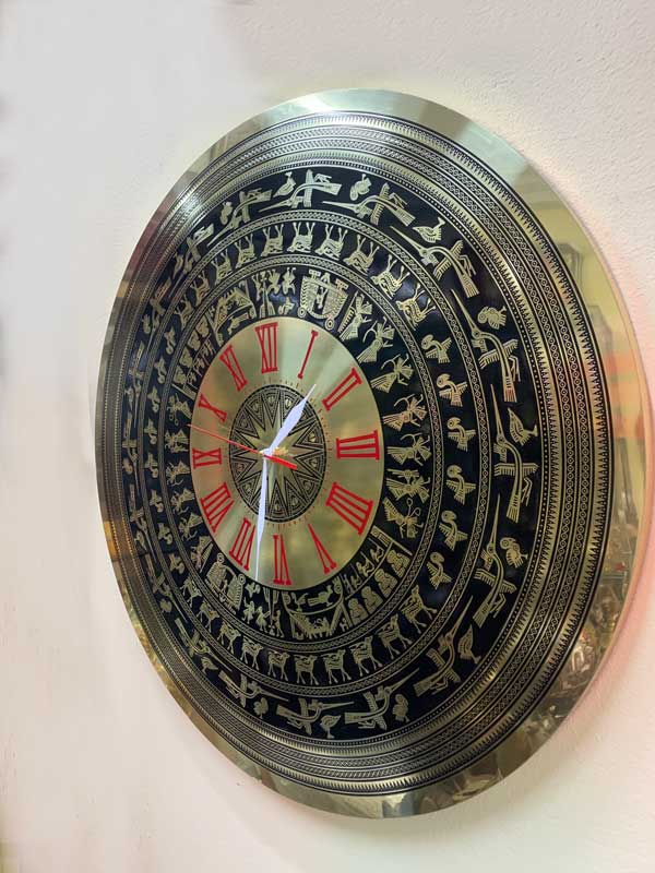Đồng hồ mặt trống đồng số la mã size 60cm