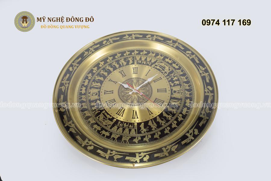 đồng hồ trống đồng số la mã mặt kính mica