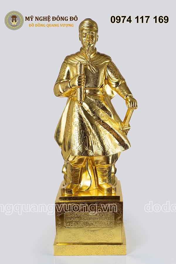 Tượng Trần Quốc Tuấn cao 60cm mạ vàng